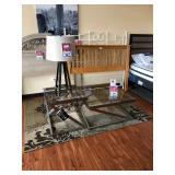 Side Tables, Lamp, Headboard, & Rug