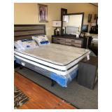 Bed, Mattress, Pillows, Headboard, & Dresser Set