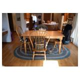 Dining Table, Chairs, Area Rug