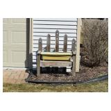 Wooden Yard Bench, Planter
