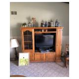 Entertainment Unit, Television, Beer Steins, Wall Art, Lamp, Home Decor