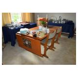 Drop Down Leaf Table & Chairs