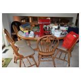 Kitchen Table, Chairs, Kitchen-Aid Mixmaster, & Kitchen Items