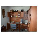 Desk, Chair, Office Unit, Computer, Electronics, & Supplies