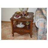 Vintage Side Table & Home Decor