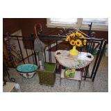 Drop Leaf Table, Planter, & Home Decor