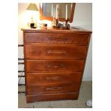 Chest Dresser, Lamp, & Candlestick Holders