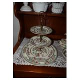 3-Tier Indian Tree Johnson Brothers England Dessert Tray