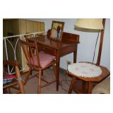 Vintage Desk, Chair, & Side Table/Stool