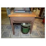Metal Desk and Drawer