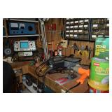 Workbench with Tools and Machines
