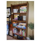 Shelving Unit, Board Games, Books