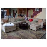 Large Sectional Sofa & Pillows