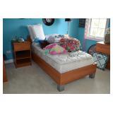 Twin Bedroom Set, Mattress, Pillows, Home Decor