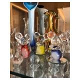 Colored glass mice