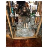 Crystal bowls and tea pots/cup