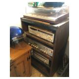 Record player and stereo equipment (Denon/Yamaha)