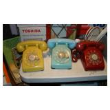 Vintage rotary landline- yellow/blue/red