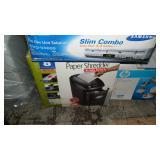 Samsung DVD/VHS, Paper Shredder, HP Printer