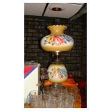 Flower oil lamp
