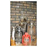 Various sizes oil lamps