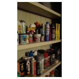 Spray paint, putty, motor oil