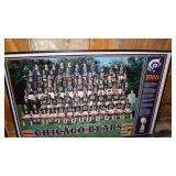 World champion chicago bears 1986 framed poster