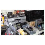 Miscellaneous electronics (walkie talkies, DVD/VHS players, clocks, radios, phones)