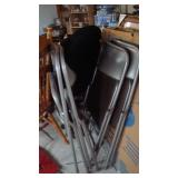 Silver folding chairs