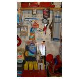 Window squeegee, sponge, toolbox