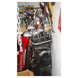 Golf clubs, metal detector