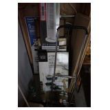 4 tier accessory shelf, floor fan