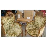 vintage wing chairs