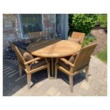 Gloster Teak Patio Table and Chairs