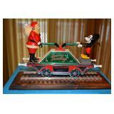 Pride Lines Ltd - Santas Little Helper  - Train Car - O Gauge - with Train Track on Wooden base - in