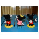 Mickey Mouse (two ceramic figurines - one waving hello and one with hand behind back and hand out) a