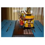 Mickey Mouse Tencennial Metal Train Car - Pride Lines - bright yellow/ includes train track on woode