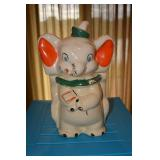 """Dumbo - """"Patented Turnabout 4 in 1 - Walt Disney"""" on bottom - Face paint in good shape, glazing is c"""