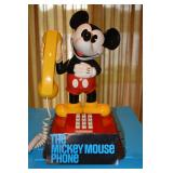 Push button, 1976 Mickey Mouse with cord, Model # UBM8000, MDL No 202569; Serial # 224810, Manufactu