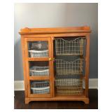 Storage cabinet with baskets