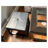 Black Coffee Table with 2 Stools