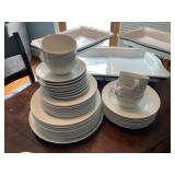 Crate and Barrel White Dish Set