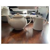 Coffee pot and creamer