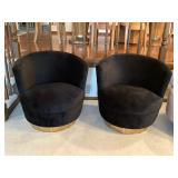 Black barrel chairs