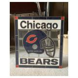 Chicago Bears Glass wall sign