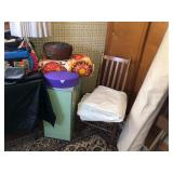 check out the green tile hamper