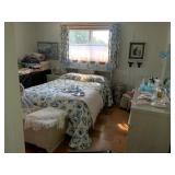 Blue bedroom - full size bed
