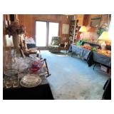 This room is full of beautiful glassware & porcelain. Vaseline Depression and so much more