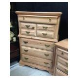 Natural Pine Chest on Chest