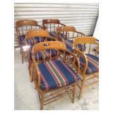 6 Oak Chairs